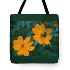 Bee On Cosmos Flower Tote