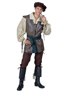 Mens Deluxe Blackadder Tudor Prince Lord Fancy Dress Costume Medieval Outfit