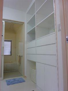 京都府舞鶴市の地域密着型の工務店。顧客満足度コンテストでは4年連続の全国第1位を獲得!住宅設計施工・店舗設計施工大きな建築から小さなリフォーム工事・エクステリア工事まで、建築の事なら何でもおまかせください。 Closet, Home Decor, Armoire, Decoration Home, Room Decor, Cupboard, Closets, Closet Built Ins, Cabinet