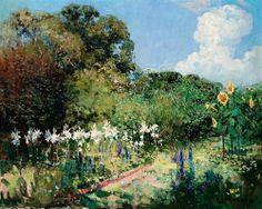 Sir Arthur Streeton | Toorak Garden oil on canvas (Australian artist)