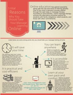 5 Vital Reasons Why You Should Take Your Massage Learning Online