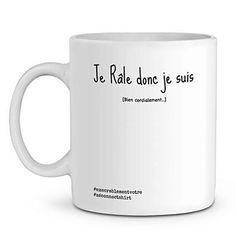 Mug En Céramique - Je Râle Donc Je Suis - Zé Connect Shirt