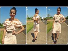Vestido babado com ombro de fora parte 3 Alana Santos Blogger - YouTube