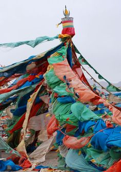 Prayer Flags . Tibet More