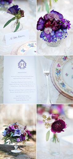 Purple Wedding Photoshoot by Ashley Baber + Holly Chapple | Style Me Pretty