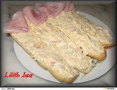 Pikantní vajíčková pomazánka Ham, Vitamins, Food And Drink, Appetizers, Healthy Recipes, Healthy Food, Menu, Bread, Cheese