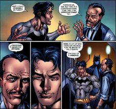 Dick Grayson and Alfred - Batman #688 he was never meant to be batman, he's to happy. im glad it was temporary