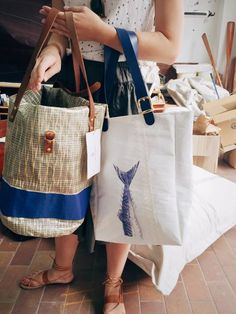 Tote made from sailcloth on the Greek island of Cyprus
