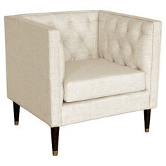 tufted arm chair nate berkus blue new living roomchic - Arm Chairs Living Room