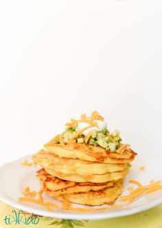 Savory cornmeal cheddar pancake recipe