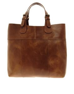 Pieces – Naysa – Premium-Shopper-Tasche aus Leder