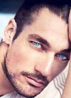 David Gandy, Goth Guys, Esther Williams, Men Photoshoot, Beautiful Eyes, Celebrity Crush, Blue Eyes, Supermodels, Eye Candy