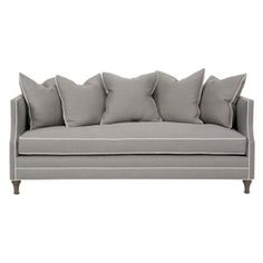 "Check out this item at One Kings Lane! Dumont 85"" Sofa, Gray  Love this couch...classy women yet not too feminine for a man."