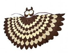 Los niños traje de búho alas de pájaro de los niños y | Etsy