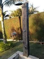 Resultado de imagen para ducha piscina madeira
