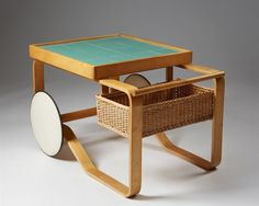 Tea trolley model 900 designed by Alvar Aalto for Artek, — Modernity