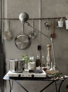 for a provisory kitchen corner