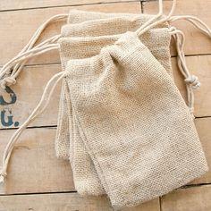 Jute Bags Natural 5 x 7 - Set of 4