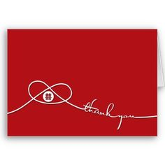 Chinese Wedding Knot Double Happiness Thank You Card