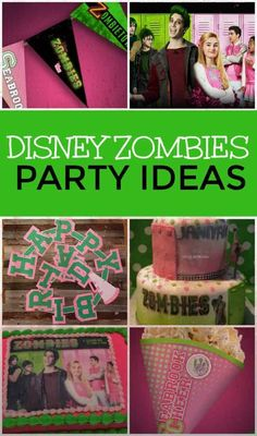 Get ready for your next undead bash with all of these awesome Disney Zombies party ideas. Are you team Zoms or team Poms? All of the best Disney Zombie party supplies to celebrate with Zed and Addison. Zombie Party Games, Zombie Party Decorations, Zombie Birthday Parties, Birthday Party Games, Zombie Disney, Disney Birthday, 5th Birthday, Birthday Ideas, Party Themes