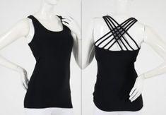 Stunning black strap back USA(10) UK (12) $25 Yoga Wear, Cotton Spandex, Active Wear, Boutique, Usa, How To Wear, Black, Black People, Sport Wear