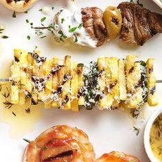 Zucchini and Yellow Squash Kabobs with Herb Butter