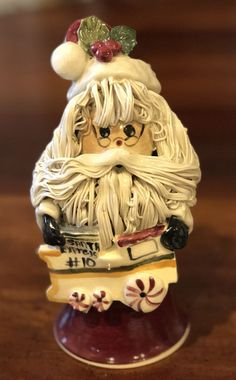 Rare NC Piney Woods Pottery Spagghetti Santa Express 2006 Collection JGM #413  #WHIMSICAL