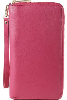 Insignia™ - Clutch Case for Most Cell Phones - Pink, Women's