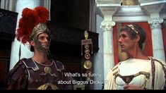 """Biggus Dickus - Monty Python, Life of Brian. Just one of many brilliant scenes from the epic comedy """"Life of Brian"""" by Monty Python. Monty Python, What's So Funny, Hilarious, Stupid Funny, Funny Meme Pictures, Funny Memes, Wedding Humor, Movies And Tv Shows, Movie Tv"""