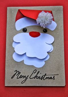 Handmade cards from Mrs Fox's Children's Christmas Crafty Boxes - Handmade christmas cards Beautiful Christmas Cards, Christmas Cards To Make, Christmas Crafts For Kids, Simple Christmas, Christmas Greetings, Kids Christmas, Holiday Cards, Christmas Decorations, Childrens Christmas Card Ideas