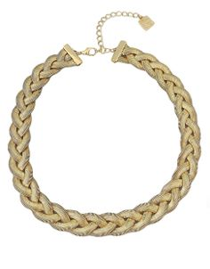 Gold Tone Braided Necklace by Garbo, $24 | Hudson's Bay