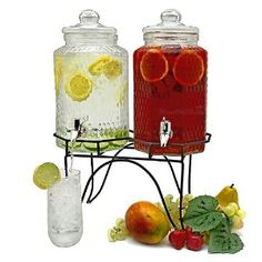 I love my beverage dispenser, but I want one like this with a stand and two options for drinks!