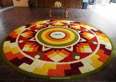 60 Most Beautiful Pookalam Designs for Onam Festival 1 pookalam design by avacare Indian Rangoli Designs, Rangoli Designs Latest, Latest Rangoli, Rangoli Designs Flower, Rangoli Designs Images, Flower Rangoli, Beautiful Rangoli Designs, Onam Greetings, Onam Pookalam Design