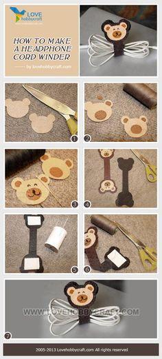 How to make a headphone cord winder