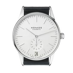 Orion 38 Datum weiß stainless steel back. Simple and modern. Classy looking watch!
