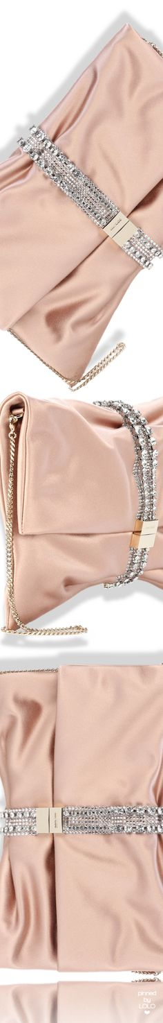 Jimmy Choo Satin Chandra Bag #jimmychoo Shades Of Peach, Powder Pink, Rose Gold Color, Madame, Peach Colors, Jimmy Choo, Outfit Of The Day, Shoe Boots, Fashion Accessories
