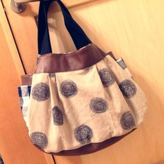 ソーイング:水玉リネンのバッグ