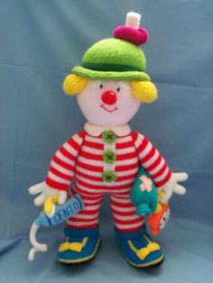 Mr Forty Winks - pattern taken from Jean Greenhowe - Knitted clowns - the Red Nose Gang