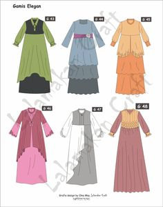 Sketch of muslimah dress Dress Design Patterns, Long Dress Patterns, Dress Design Sketches, Fashion Design Sketches, Abaya Designs, Baby Clothes Sizes, Abaya Mode, Moslem Fashion, Hijab Stile