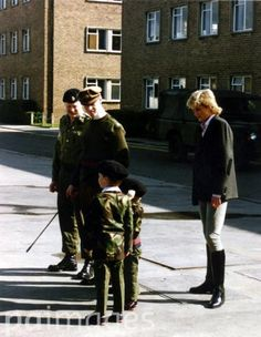 Diana with her boy and Captain James Hewitt, a rat if there was one.