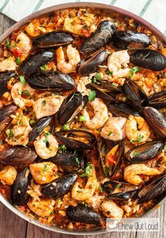 Easy Seafood Paella - Chew Out Loud#more-9383#more-9383#more-9383