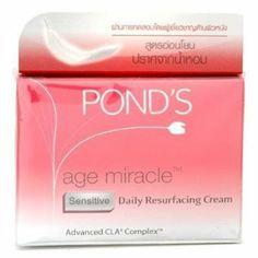 Pond's Age Miracle Sensitive Daily Resurfacing Day Cream 50g. by N MARKET. $48.90. Product DescriptionClinically proven to give younger looking skin in just 7 days. Fine Lines, Age Spots and Wrinkles are significantly reduced in 7 days. Makes skin smooth and radiant.