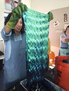 Honeycomb Shibori Tutorial - step by step | #SHIBORI