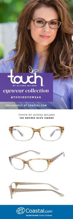 Touch by Alyssa Milano 106 Brown Blue Ombre, exclusively at @Coastal.com #TouchEyewear