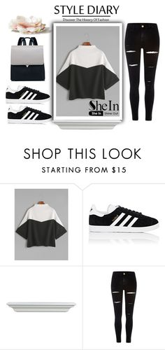 """Shein"" by loveliest-back ❤ liked on Polyvore featuring adidas and River Island"