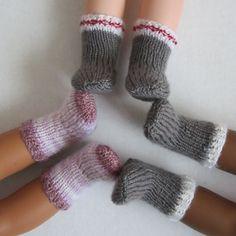 Socks for Dolls – Free Knitting Pattern! - Socks for Dolls – Free Knitting Pattern! Socks for Dolls – Free Knitting Pattern! – Hannah's Dolls Knitted Doll Patterns, Knitted Dolls, Knitting Patterns Free, Free Knitting, Baby Knitting, Free Pattern, Crochet Dolls, Crochet Patterns, Knitting Dolls Clothes