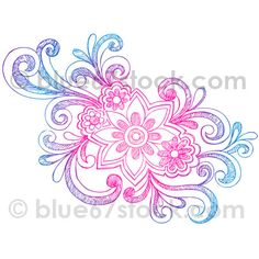 Hand-Drawn Sketchy Notebook Doodle Flower Vector Illustration by blue67design.com by blue67design, via Flickr