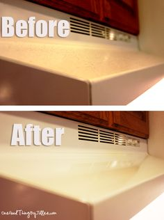 Use oil to clean your greasy stove hood. Works like a charm!