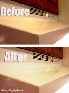 Limpieza de campana:Ponga un par de gotas de aceite sobre una toalla de papel, limpie la toalla de papel sobre la superficie de la grasa, mugre y ver que vienen justo a la salida!