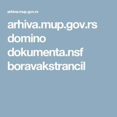 arhiva.mup.gov.rs domino dokumenta.nsf boravakstrancil